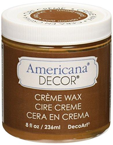 DecoArt Americana Decor Creme Wax, 8-Ounce, Golden Brown (Best Paint For Distressing)