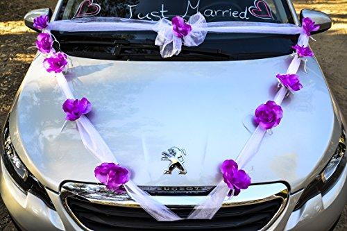 Happy Days Wedding Car Decoration Kit Wide White Organza Ribbon
