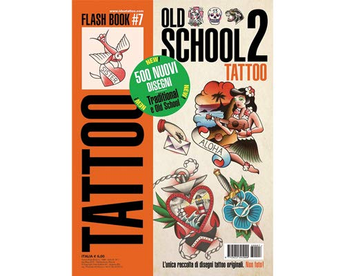 Old School 2 Tattoo Flash Design Book 64-Pages