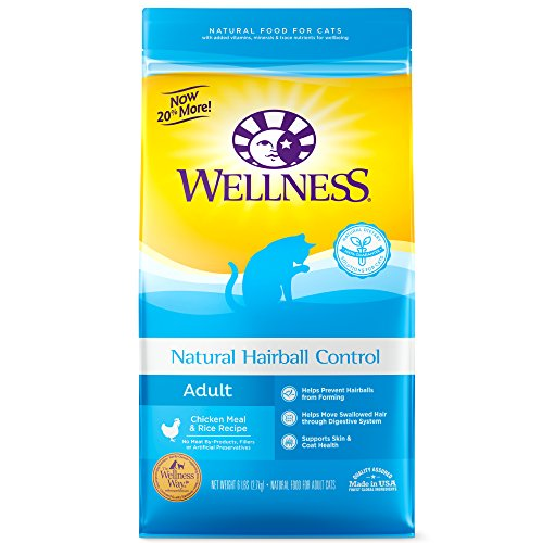 Wellness Complete Health Natural Dry Cat Food, Hairball Control Chicken Recipe, 6-Pound (Control Formula Canned Food)