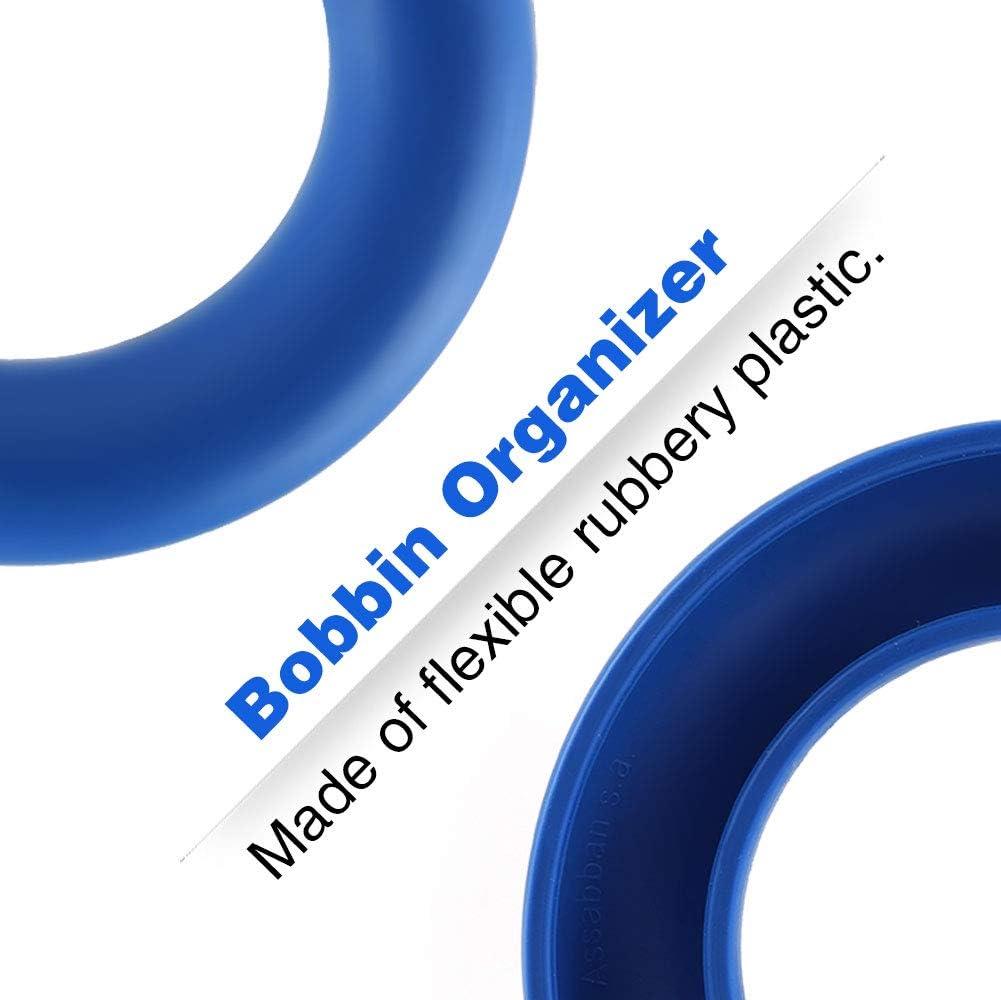 blue Stockage Organisateur Bobine En Caoutchouc Couture Artisanat Accessoires De Broderie Id/éal pour la broderie /à coudre fil /à coudre