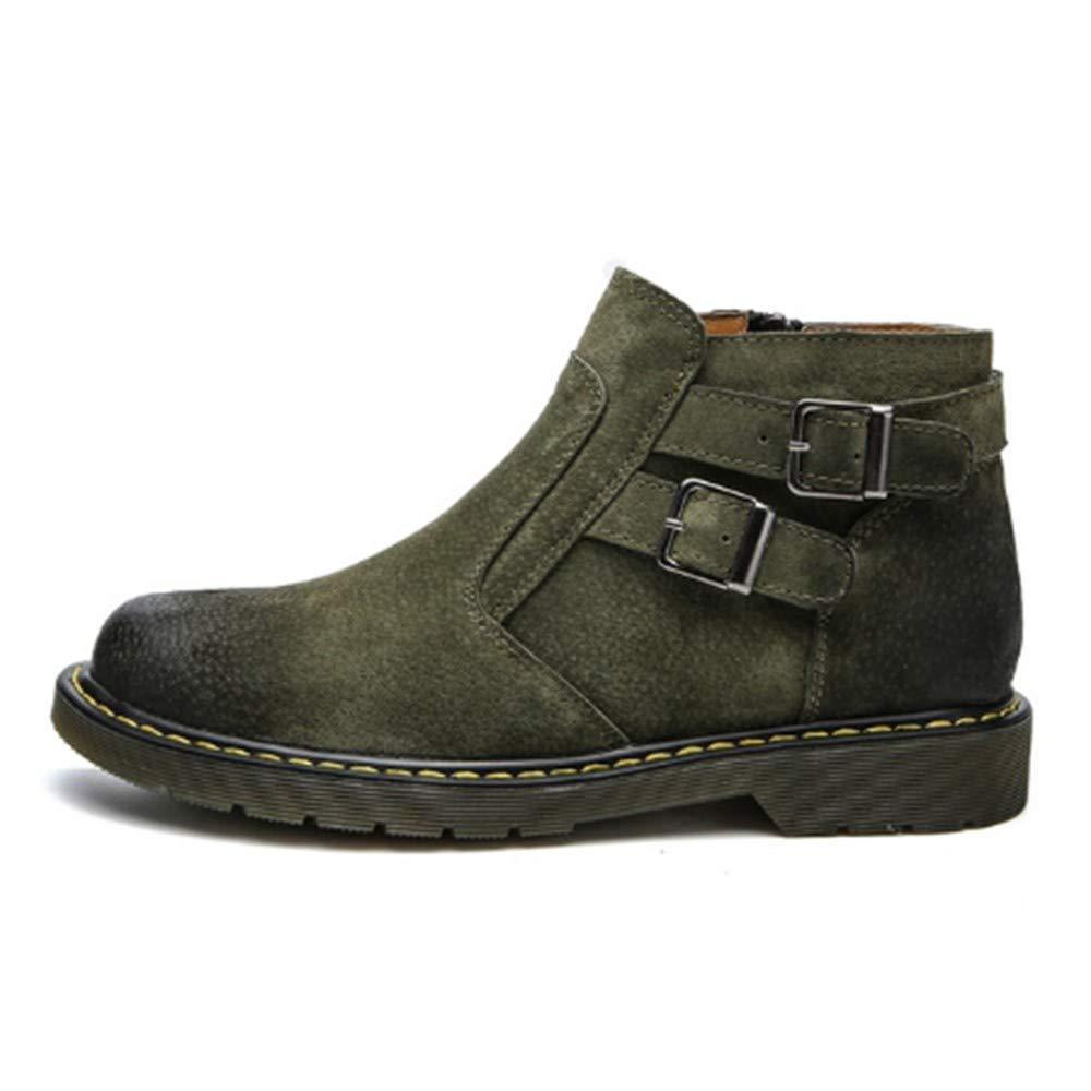 FMWLST Stiefel Stiefel Stiefel Herren Stiefel PU Stiefeletten Schnalle Dekorative Reißverschluss Freizeitschuhe Herren Stiefel  810f16