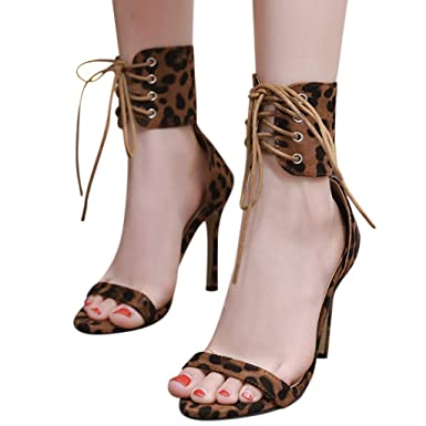 f2f9968b4c22b Amazon.com: Fainosmny Womens High Heel Sandals Summer Sexy High ...