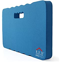 RED Home Club Thick Kneeling Pad - Garden Kneeler for Gardening, Bath Kneeler for Baby Bath, Kneeling Mat for Exercise & Yoga, Knee Pad for Work, Extra Large (XL) 18 x 11 x 1.5 Inches, Blue