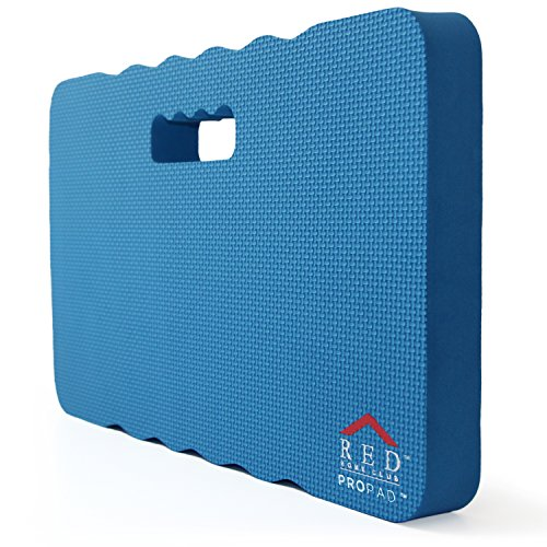 RED Home Club Thick Kneeling Pad - Garden Kneeler for Gardening, Bath Kneeler for Baby Bath, Kneeling Mat for Exercise & Yoga, Knee Pad for Work, Extra Large (XL) 18x11, Thickest 1-½ Inches, Blue