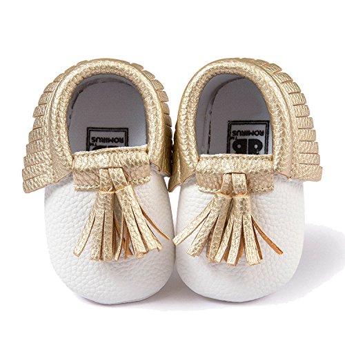 Gosear Borlas Zapatos de Bebé Zapatillas Suave para 0-6 meses B