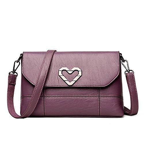 Meaeo Nueva Bolso Madre Violet Nuevo Casual Claret Un Y Señorita Bolso Único Bag Messenger Paquete rI1rzqx