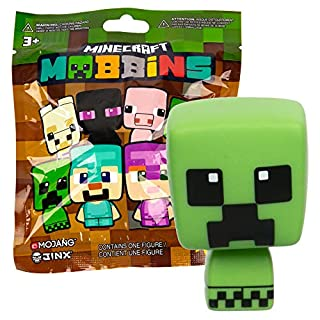 JINX Minecraft Mobbins Vinyl Toy Figures Blind Pack, Series 1 (One Mystery Figure)