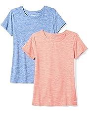 Amazon Essentials Women's 2-Pack Tech Stretch Short-Sleeve Crewneck T-Shirt