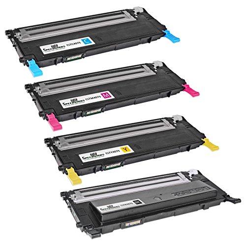 Speedy Inks - 4pk Compatible for Samsung CLP-325 Laser Toner Cartridge Set CLT-K407S CLT-Y407S CLT-M407S CLT-Y407S for CLP-320N, CLP-321N, CLP-325W, CLP-326, CLX-3180, CLX-3185FW, CLX-3185N, CLX-3186