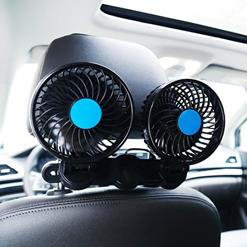SILIVN Electric Car Fan for Rear Seat Passenger (Fan For Car Portable)