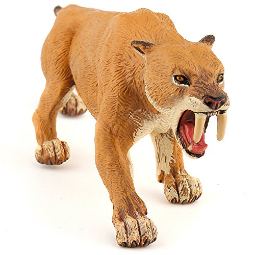 (Papo Collectable Model Animal Toy - Smilodon Saber-toothed Tiger - Prehistoric Figure)