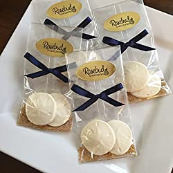 12 SAND DOLLARS White Chocolate Party FAVORS (One Dozen) Nautical