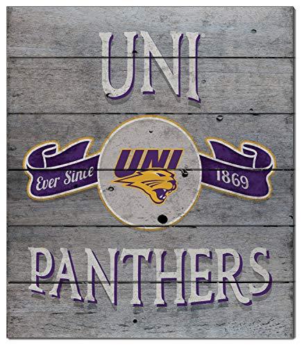 (KH Sports Fan 12x13 Pallet Pride - Vintage Banner Northern Iowa Panthers)