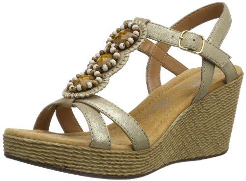 Jenny Riccione 22-53802 Damen Klassische Sandalen Gold (platin)