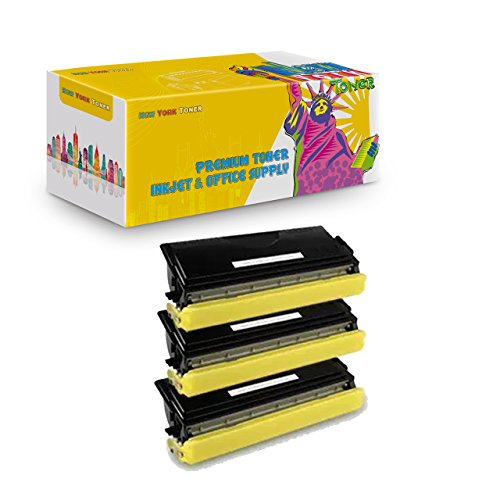 New York TonerTM New Compatible 3 Pack TN460 High Yield Toner For Brother MFC MultiFunction Printers : MFC-1260. -- Black