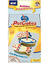 PetCakes Cat Birthday Cake Kit 859989002778 DIY Healthy Frosted 3 Small Fish Pet Cake, 3.5 x 1.5 x 1