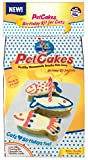 PetCakes Cat Birthday Cake Kit 859989002778 DIY Healthy Frosted 3 Small Fish Pet Cake, 3.5'' x 1.5'' x 1''