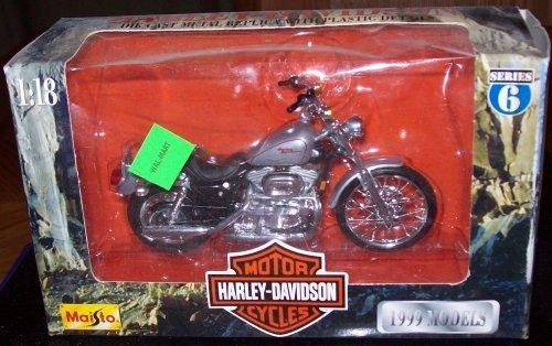 Harley-Davidson Die Cast Metal Replica with Plastic Details ~ XL 1200C Sportster 1200 Custom 1999 - 1999 Replica