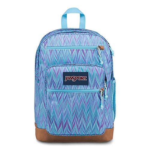 Girl Big Girl Backpack - JanSport Cool Student Laptop Backpack - Blue Marble Chevron