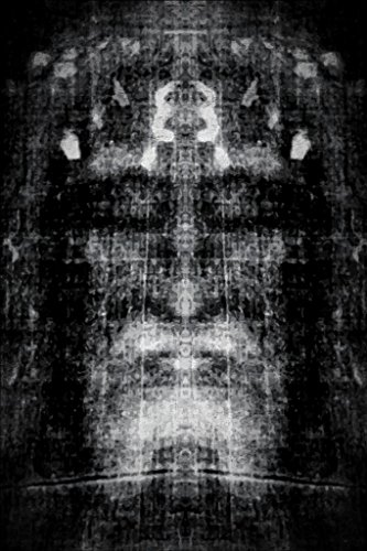 Shroud of Turin Black and White Negative Inspirational Motivational Religious Mural Giant Poster 36x54 inch ()