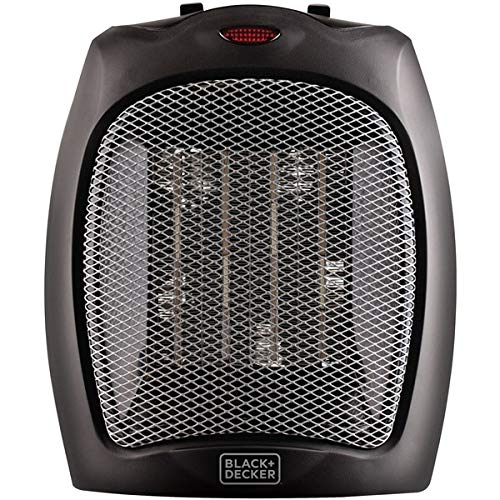 Black + Decker BHDC500B46 Compact,Personal Black Ceramic Desktop Heater with Safety Protection (Best Large Space Heater)