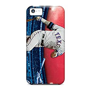 Best Hard Phone Covers For Iphone 5c (UKV845sbhx) Allow Personal Design Lifelike Texas Rangers Image
