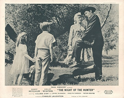 NIGHT OF THE HUNTER ORIGINAL BRITISH LOBBY CARD ROBERT MITCHUM SHELLEY WINTERS Silverscreen