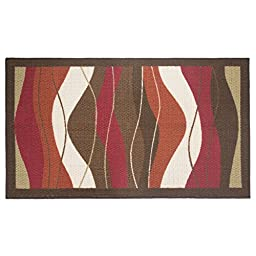 Modern Living Waves Decorative Area Accent Rug, 26 by 45-Inch