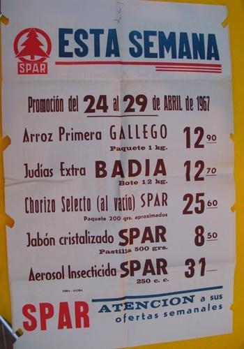 CARTEL Publicidad - Poster Advertising : SPAR 1967: Amazon ...