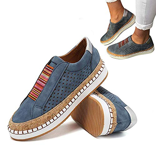 2019 New Slide Hollow-Out Round Toe Casual Women Sneakers Breathable Elastic Slip On Flat Lazy Shoes