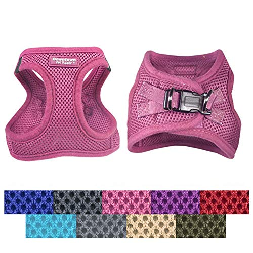 Downtown Pet Supply No Pull, Step in Adjustable Dog Harness with Padded Vest, Easy to Put on Small, Medium and Large Dogs (Pink, S)