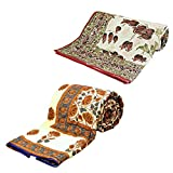 Little India Jaipuri Print AC Double Bed Comforters Pair Combo 312