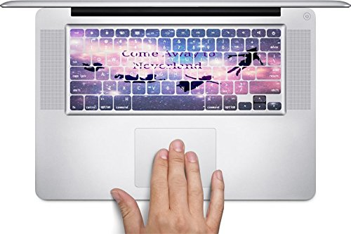 Come Away To Neverland Design Print Image Macbook Keyboard Decals (Fits 13, 15 inch Air/Pro/Retina) by Trendy Accessories (Peter Pan Macbook Decal compare prices)