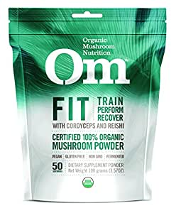 Om Organic Mushroom Nutrition Fit Matrix with Cordyceps & Reishi, 3.57 Ounce