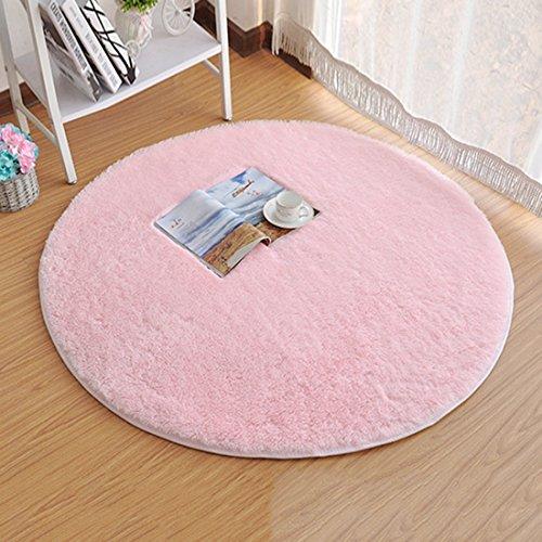 Area Rugs Super Soft Livingroom Bedroom Home Shag Carpet Pink ()
