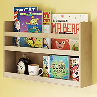 Children's Kids Room Wall Shelf Wood Material Great For Bunk Bed Nursery Room Books and Toys Organization Storage