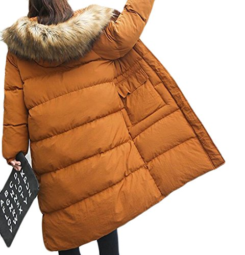 Hot Brd Hooded Womens Warm Down Parkas Jacket Winter UK Coats Fur Faux 2 F1qFxg