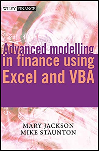 Advanced modelling in finance using Excel and VBA: Mary Jackson