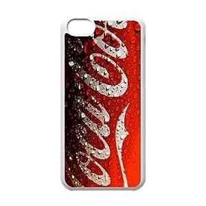 iPhone 5c Cell Phone Case White Coca Cola N5Z7KO