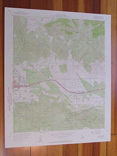 Cabazon California 1957 Original Vintage USGS Topo - Cabazon California Map