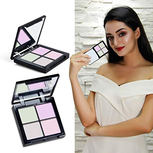 Meicoly 4 Color Highlighter Makeup Palette Crystal Sugar Highlighting Bronzer Glow Shimmer Eyeshadow Cosmetic Kit