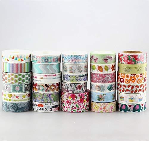 DHL Cute Kawaii 100pcs / Lot Tape Flowers Scrapbooking DIY Decorative Adhesive Japanese Washi Paper Tape for Gift