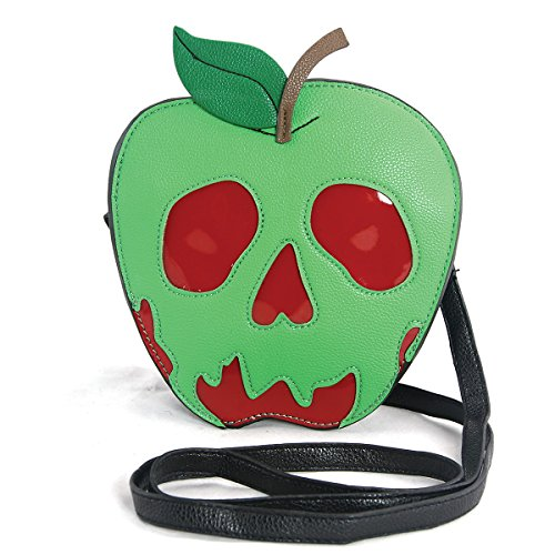 Sleepyville Critters - Poison Apple Crossbody Bag in Vinyl (Halloween Poison Apples)