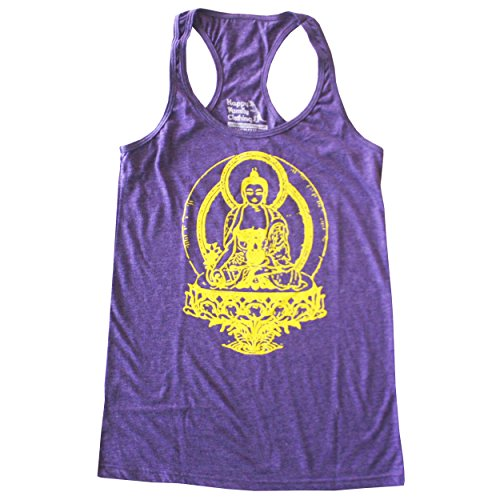 Tri Orchid (Happy Family Buddha American Apparel Racerback Tank Top (Large, Tri-Orchid))