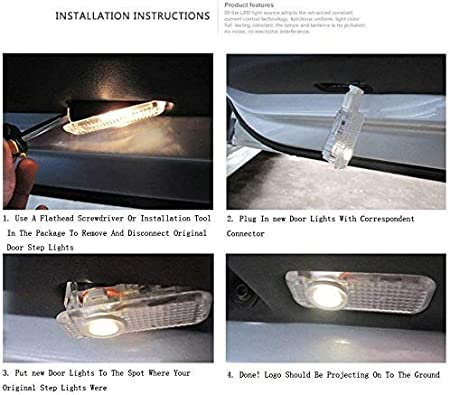 fit bmw Westion 4 Pcs Car Door LED Logo Projector Welcome Lights Ghost Shadow Lights