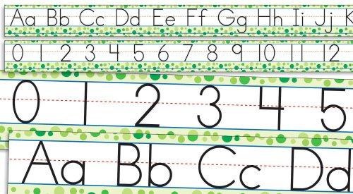 Scholastic Teacher's Friend Standard Manuscript Alphabet and Numbers 0-30 Bulletin Board (TF8032) (Manuscript Border)