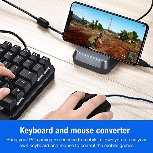 BEBONCOOL BattleDock Mobile Game Controller Keyboard and Mouse Converter  for PUBG Mobile Android Tablet Games (Silver)