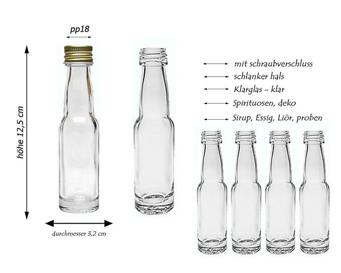 hocz Juego de Botellas de Cristal, Cierre de Rosca, 20/24 ...