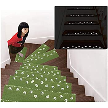 Uuouu Luminous Stair Treads Mats Anti Slip Rugs Night